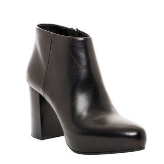 Prada Black Leather Platform Booties