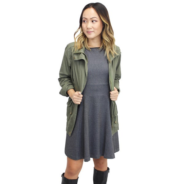 Women's Contemporary Marin County Olive Utility Jacket