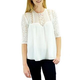 Women's Cecile White Lace Blouse