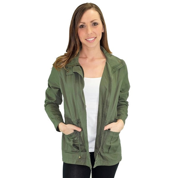 Women's Contemporary Relished Marin County Green Utility Jacket