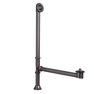 Sinkology 1.5-inch OD Brass Lift and Turn Bathtub Drain and Overflow Kit in Oil-Rubbed Bronze Finish