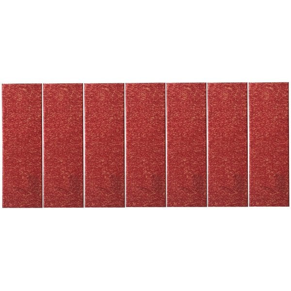 "Affordable Set of 7 Skid-resistant Rubber Backing Non-slip Carpet Stair Treads-Machine Washable (8.5"" X 26.5"") Red (As Is Item)"