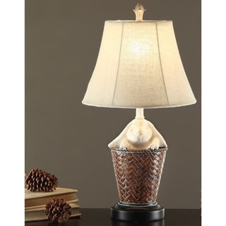 Rabbit Basket 23-inch Table Lamp (Set of 2)