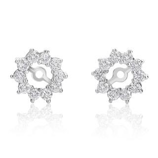 SummerRose 14k White Gold 7/8ct TDW Diamond Stud Earring Jackets (H-I, SI1-SI2)
