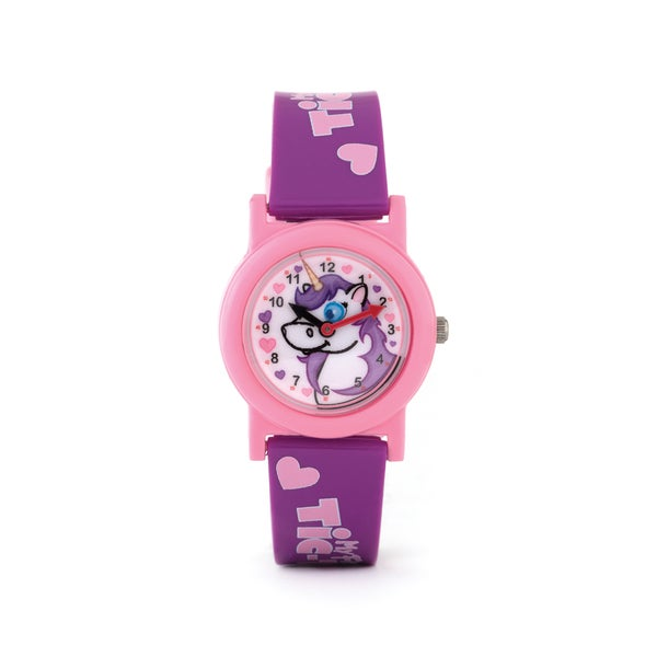 My First Tic Toc Speidel Unicorn Purple Strap Watch