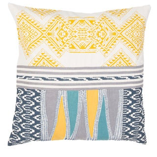 Handmade Tribal Pattern Cotton 22-inch Pillow (Set of 2)