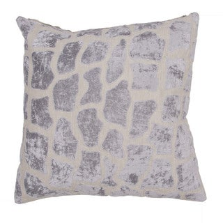 Handmade Animal Print Pattern Linen Grey 22-inch Pillow (Set of 2)