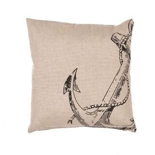Handmade Coastal Pattern Jute 20-inch Throw Pillow (Set of 2)