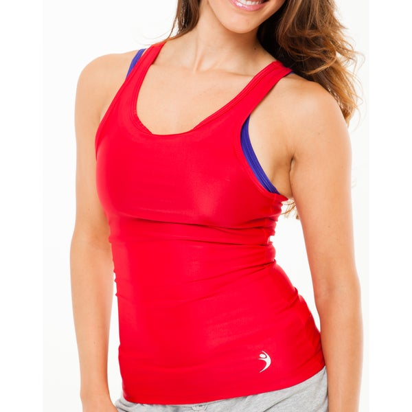 MissFit Activewear Women's Red Razorback Tank Top 16149835