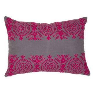 "Handmade Floral Pattern Cotton Throw Pillow 14""x20"" (Set of 2)"