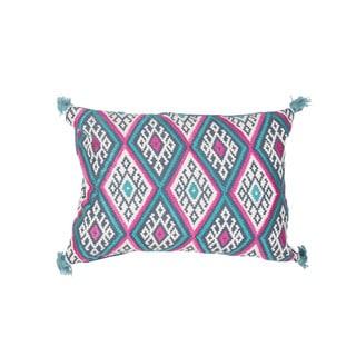 "Handmade Geometric Pattern Cotton Throw Pillow 14""x20"" (Set of 2)"