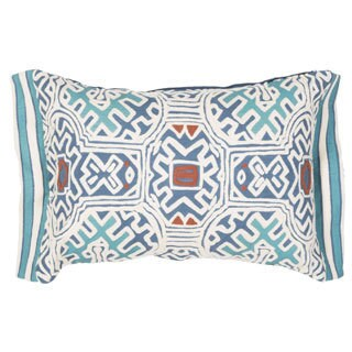 "Handmade Tribal Pattern Cotton Throw Pillow 14""x20"" (Set of 2)"