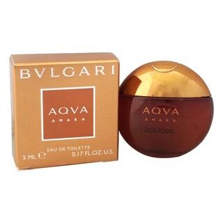 Bvlgari Aqva Amara Men's 0.17-ounce Eau de Toilette Splash (Mini)