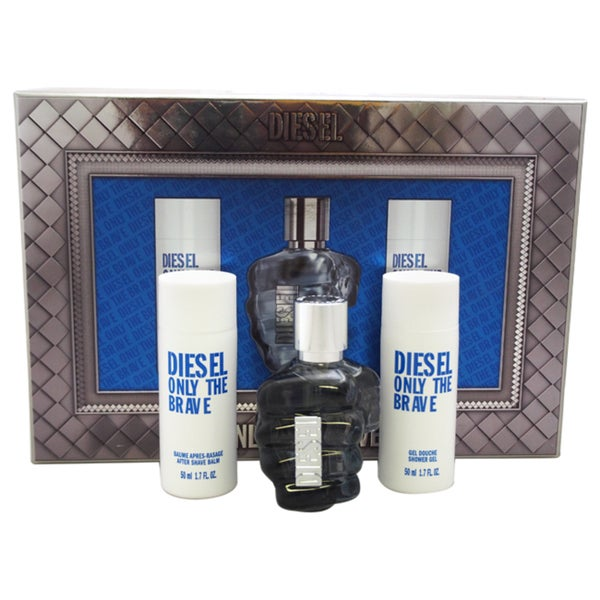 Diesel Only The Brave by Diesel Men's 4-piece Gift Set