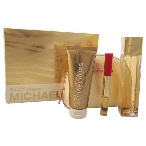Sexy Amber by Michael Kors Women's 4-piece Gift Set