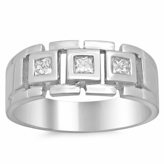 Artistry Collections 14k White Gold Men's 1/2ct TDW Diamond Wedding Ring (F-G, SI1-SI2)