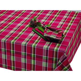 Tango Red Plaid Tablecloth