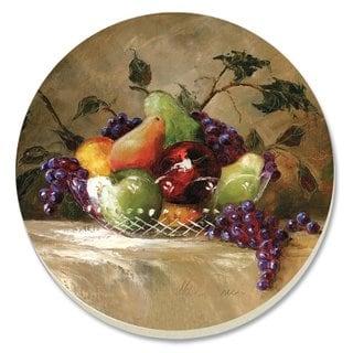 Absorbent Stone Coaster (Set of 4) Fruit Basket of American Bounty