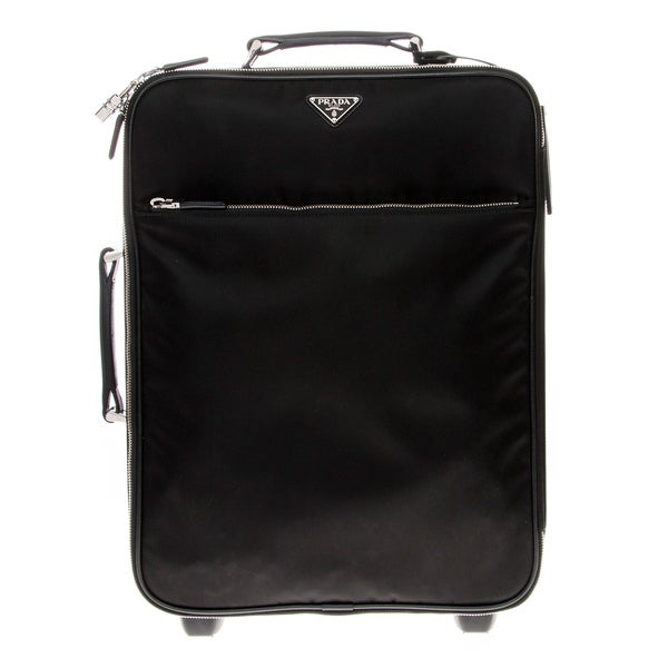 Prada Nylon Trolley With Saffiano Leather Trim