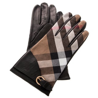 Burberry Leather and Housecheck Gloves