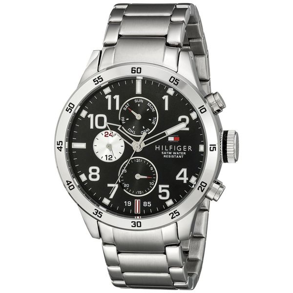 Tommy Hilfiger Men's 1791141 Sport Round Silvertone Stainless Steel Bracelet Watch