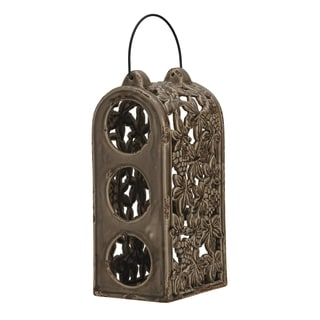 Bombay Company Rustic Brown 3-bottle Wine Holder