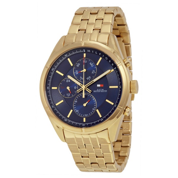 Tommy Hilfiger Men's 1791129 Classic Charlie Round Goldtone Stainless Steel Bracelet Watch