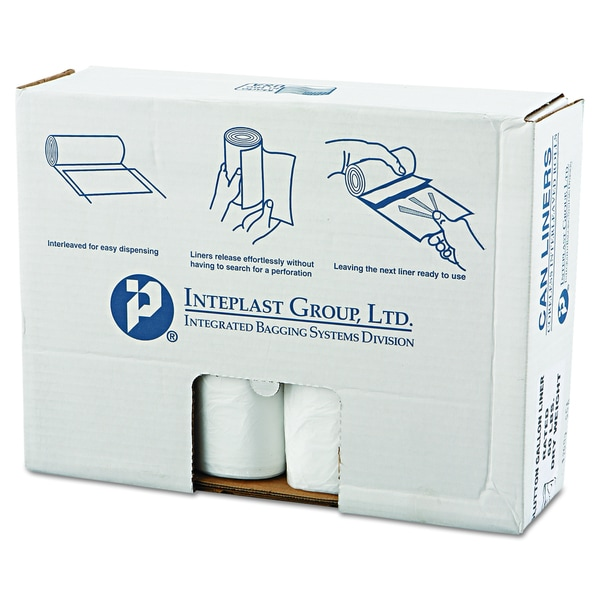 Inteplast Group Clear 60-Gallon 43 x 46 High-Density Can Liners (8 Rolls of 25 Liners)