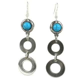 Bubbles and Turquoise Silverplated Earrings (South Africa)