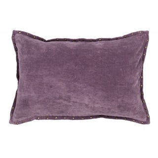 """Handmade Solid Pattern Cotton Throw Pillow 16""""x24"""" (Set of 2)"""