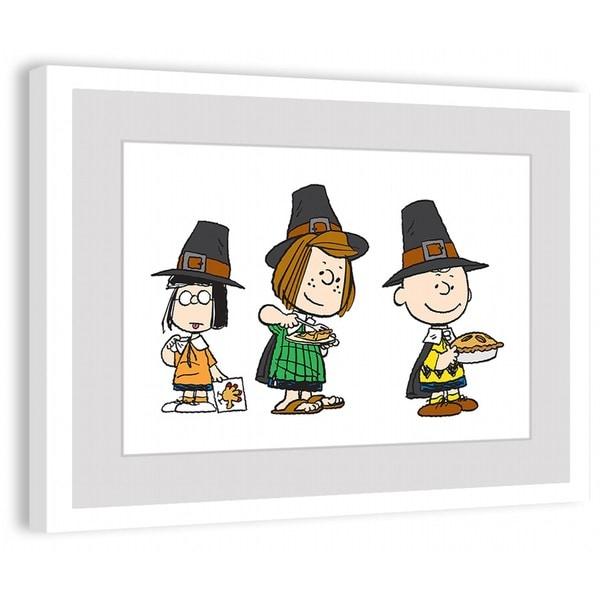"Marmont Hill - ""Peanuts Pilgrims"" Peanuts Framed Art Print"