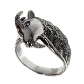 Handcrafted Men's Sterling Silver 'Capricorn' Ring (Indonesia)