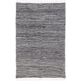 Black Complex Chenille Flat Weave Rug (10'x14')