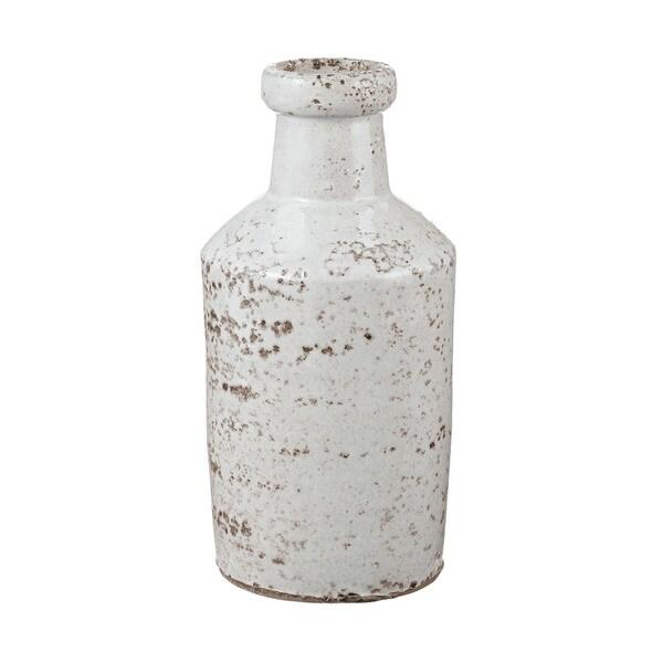 Dimond Home Rustic White Milk Bottle
