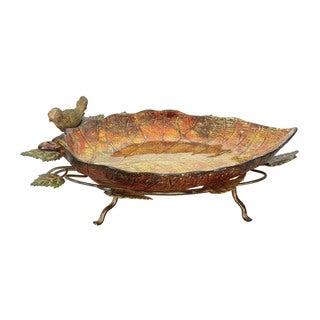 Sterling Autumn Leaf Finch Bowl