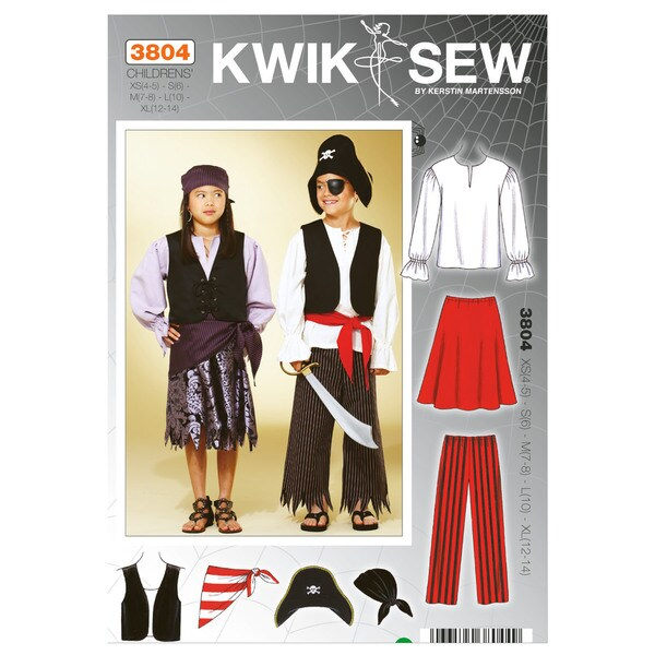 Pirate Costumes-XS(4-5) - S(6) - M(7-8) - L(10) - XL(12-