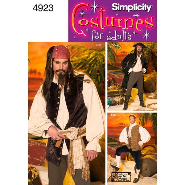 Simplicity Mens Costume-XS,S,M