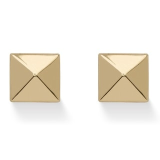 PalmBeach Tailored 14k Yellow Gold Pyramid Stud Earrings
