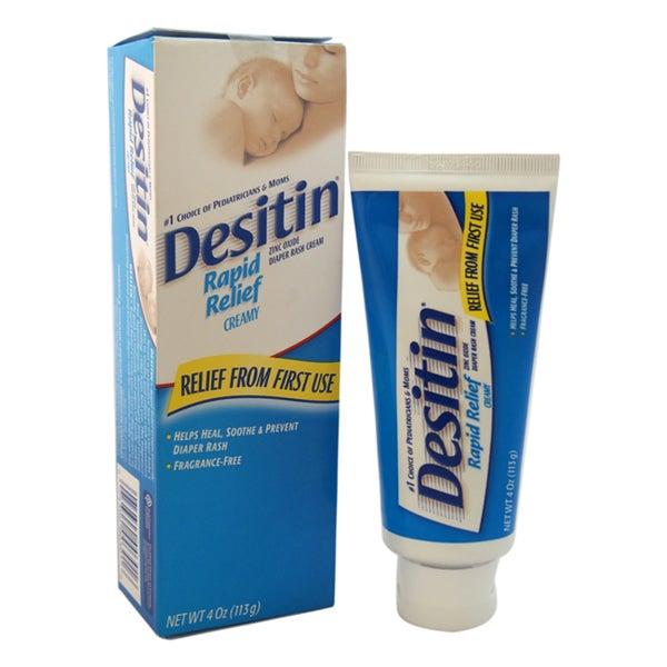 Johnson & Johnson Desitin Rapid Relief Diaper Rash 4-ounce Cream