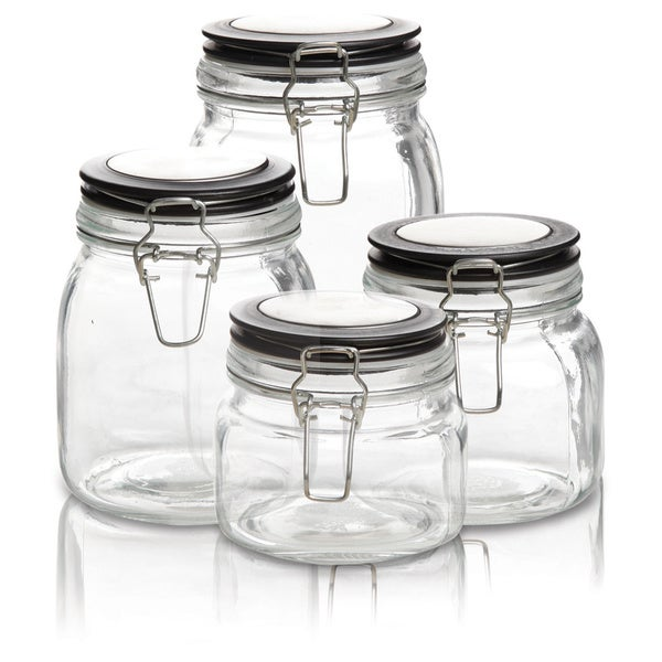 Gibson 4-piece Jar Style Canister Set