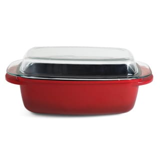 Gibson Cast Aluminum Red Roaster 6.2 Qt