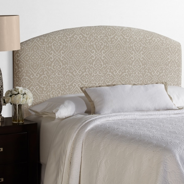 Humble + Haute Parker Full Size Taupe/Ivory Curved Upholstered Headboard