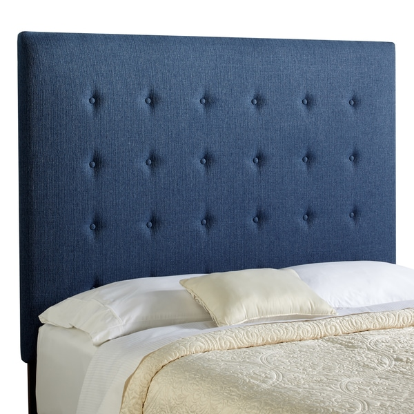 Humble + Haute Prescott Tall Queen Size Navy Blue Upholstered Headboard