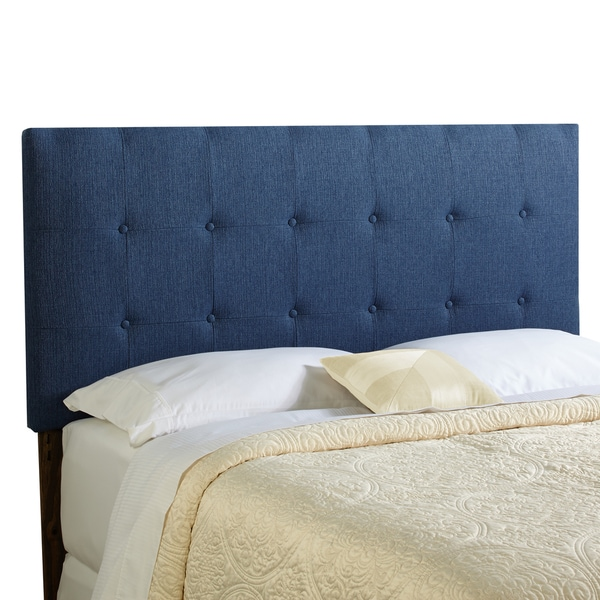 Humble + Haute Stratton King Size Navy Blue Upholstered Headboard