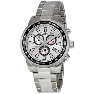 Invicta Swiss ChronoGraph Tachymeter Sport Silver Dial Stainless Date Watch
