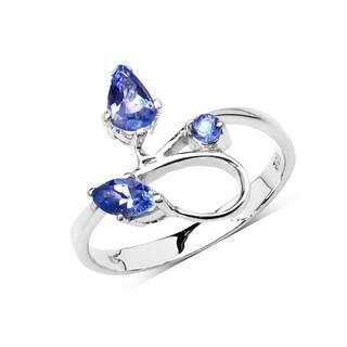 Olivia Leone Sterling Silver 5/8ct Genuine Tanzanite Ring