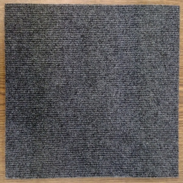 Peel And Stick 36 Sq Ft Charcoal Grey Carpet Tiles