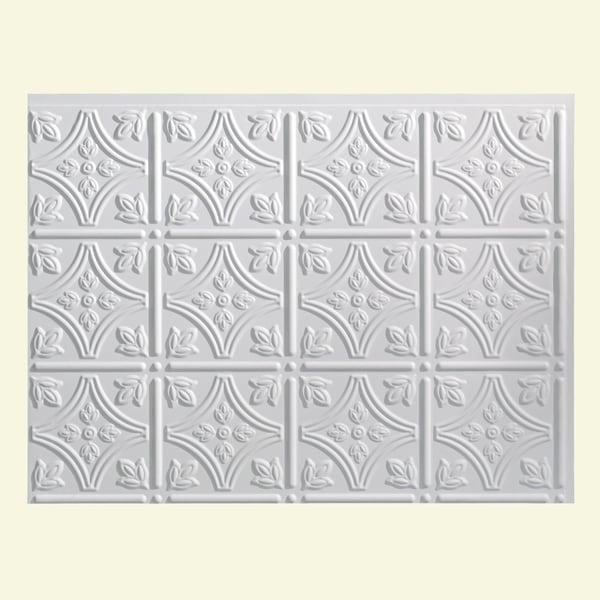 Fasade Traditional 1 Matte White Backsplash Panel