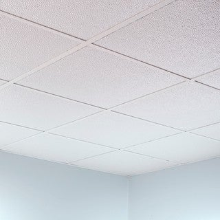 Fasade Hammered Matte White 2-foot Square Lay-in Ceiling Tile
