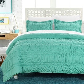 Chic Home Caress Pleated Ruffled Technique 3-piece Quilt Set